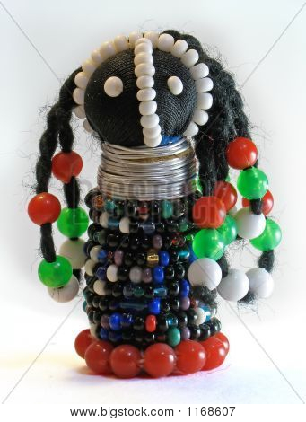 African Ndebele Doll W/Paths
