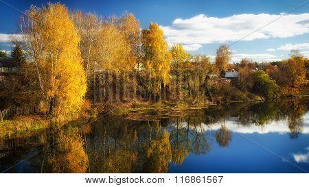 Golden autumn in October