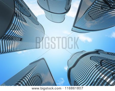 Abstract Office Building