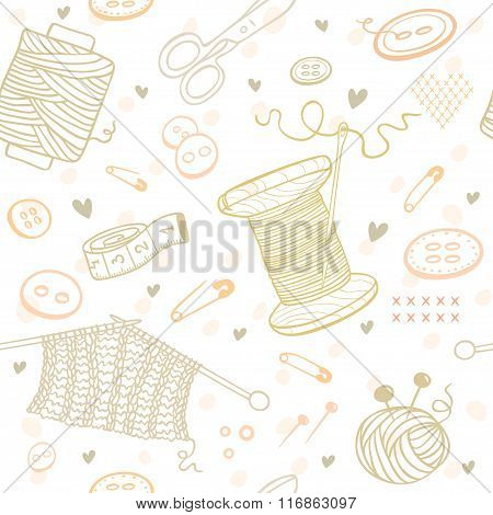 seamless pattern needlework