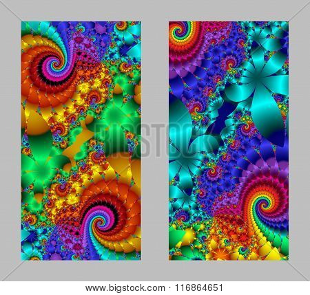 Mobile Phone Cover Back With Beautiful Multicolored Pattern In Fractal Design
