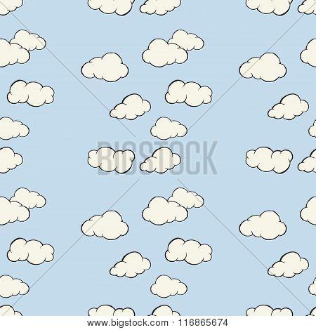 Cloud sky seamless pattern.