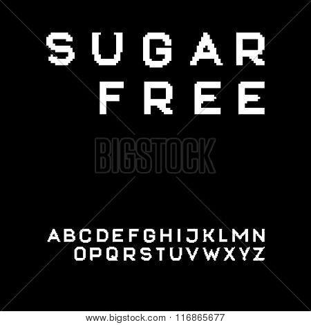 Pixel Sans Serif Font In Uppercase