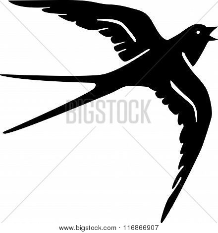 swallow bird silhouette black