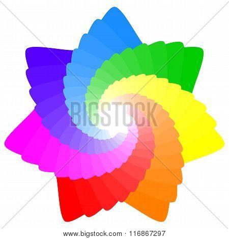 Colorful Geometric Mandala Star