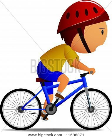 Bicyclist in yellow shirt