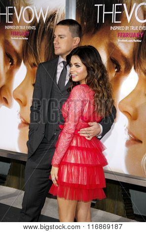 Channing Tatum and Jenna Dewan at the Los Angles Premiere of