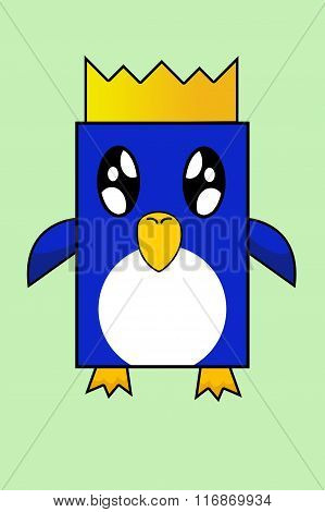 square penguin cartoon illustration