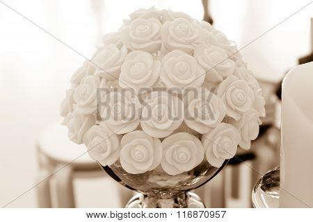 Rose made from sugar