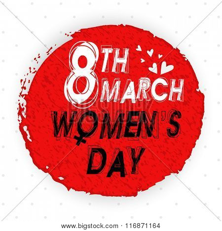 Elegant greeting card design with stylish text 8th March on creative background for Happy Women's Day celebration.