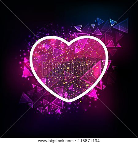 Creative shiny hearts with abstract design for Happy Valentine's Day celebration.