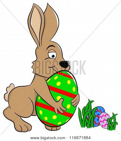 Easter Bunny Who Loves His Egg