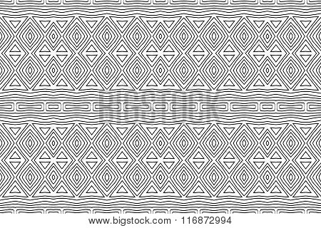 Background Abstract Ethnic Black And White 1