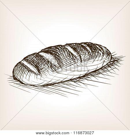 Bread sketch style vector illustration