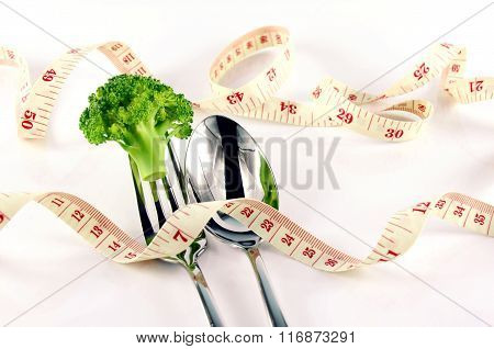 Waistline and Weight Control Concept by Diet Control.