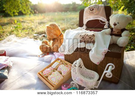 baby clothes and soft toys