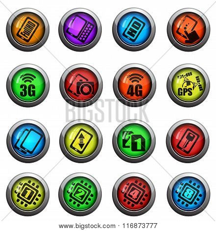 Smarthone specs icons set