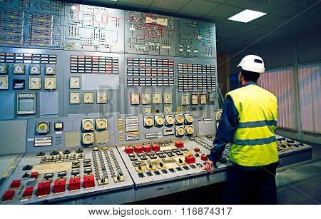 Work Place In The System Control Room.