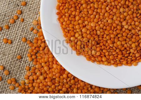 Handful Of Red Lentils