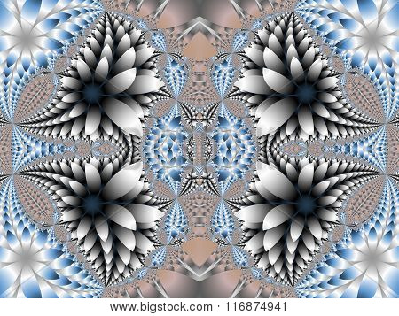 Fabulous Pattern For Background. Collection - Magical Petals. Artwork For Creative Design, Art And E
