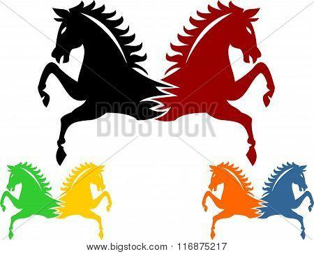 stock logo twins horse