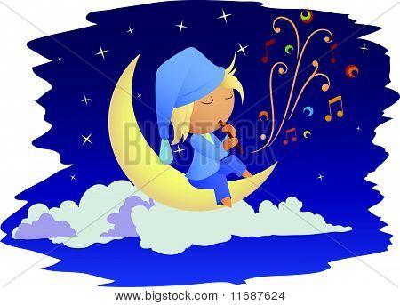 Fairy night music on the moon