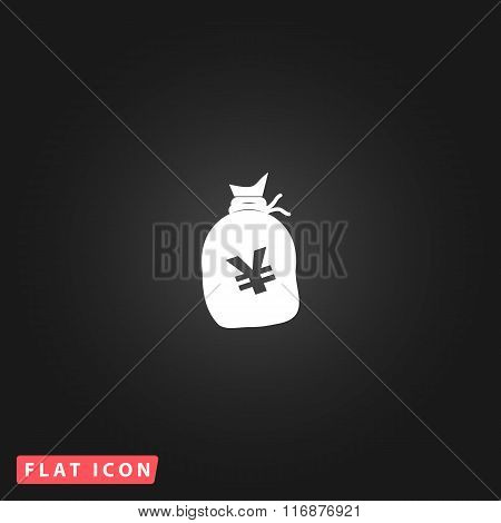 Money bag icon. Yen JPY