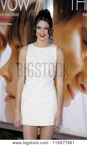 Kendall Jenner at the Los Angles Premiere of