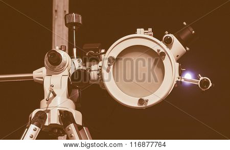 Retro Looking Astronomical Telescope
