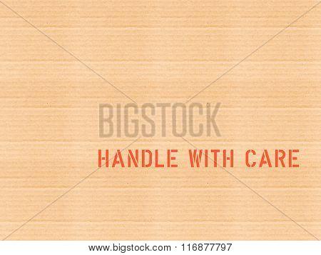Fragile Corrugated Cardboard Vintage