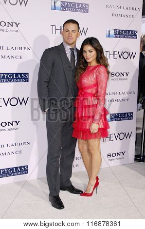 Jenna Dewan and Channing Tatum at the Los Angles Premiere of