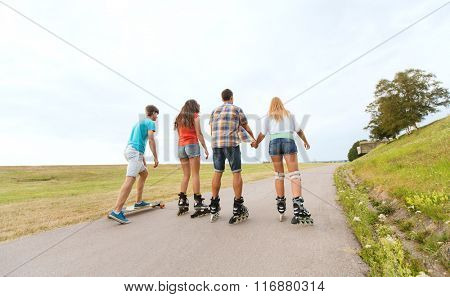 teenagers with and longboards