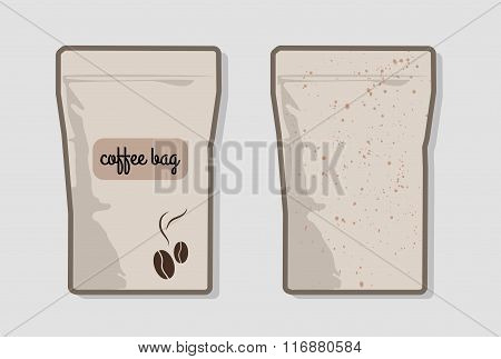 Mock-up pack For Coffee
