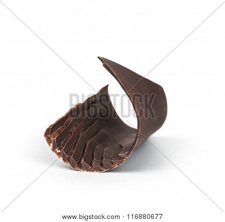 Black Chocolate Shavings On White Background
