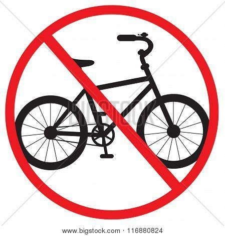 Bike Sign Prohibited