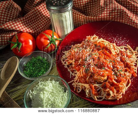 Spaghetti And Meatball Dinner