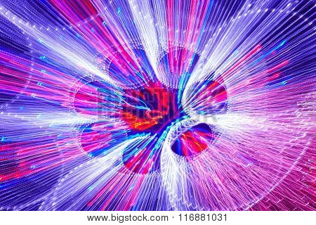 Moving Colored Lights Background. Abstract Backdrop. Horizontal Format