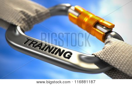Chrome Carabiner with Text Training.