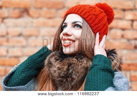 Portrait Of A Very Happy Young Woman. Waiting For A Miracle