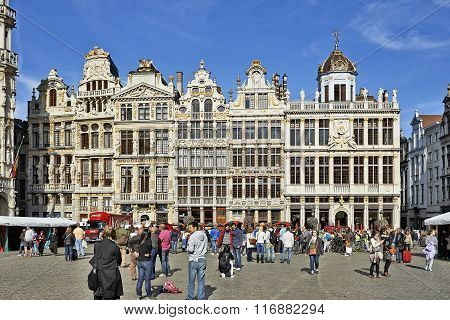 Newly Restored Facades From The Grand Place In Brussels