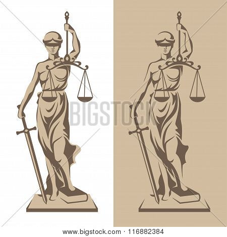 Themis Statue Illustration