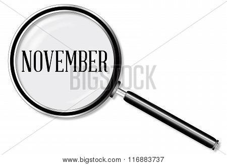 November Magnifying Glass
