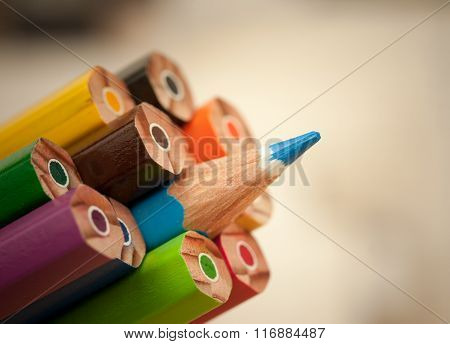 Standing out sharp pencil