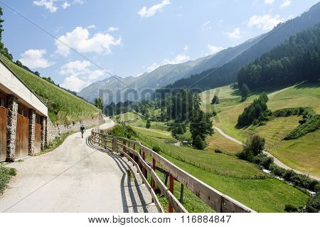 Mountain Road. Austrian Alps