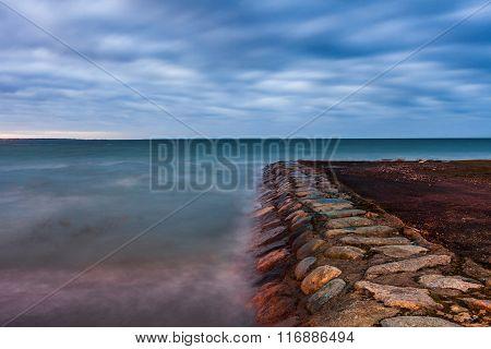 Calm Baltic sea landscape