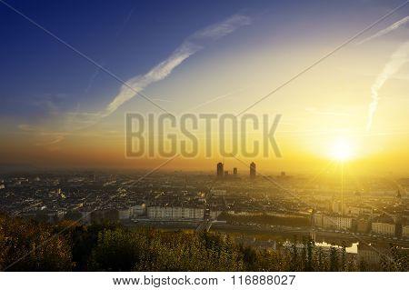 A New Day Begin At Lyon City, France
