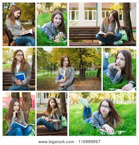 Photo Collage Of Student On Campus