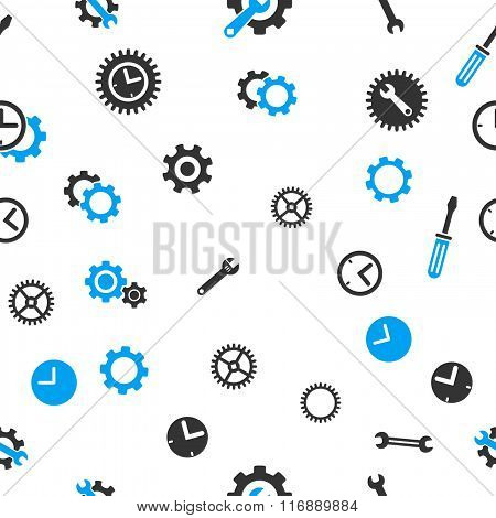 Time Tools Seamless Flat Raster Pattern
