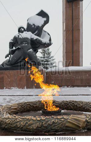 Victory Park Eternal Flame Great Patriotic War Memorial