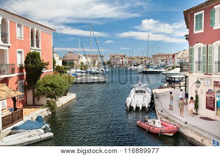 Harbor of Port Grimaud, France